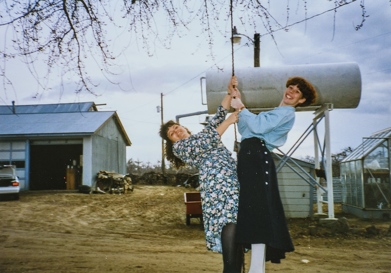 Wiley and I on swing at Mann's 1994