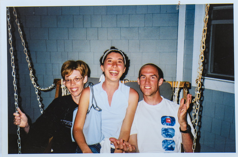 Sara Jarvie, Carine Dumit and Jared at Duck Beach 2003