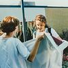 Kathy, Sara, Kristen Jarvie 1995
