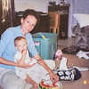 Kristen and Elric Clark almost 12 months. Jetta Clarks's house just before we moved to Spokane.