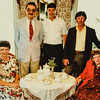 Kathy, Don Gerow, Paul, Russ and Pauline 1992 family reunion Russell House