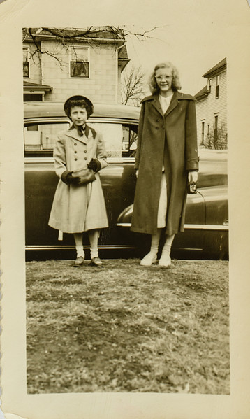 Kathy Lamson and Lois Anderson, a neighborhood friend