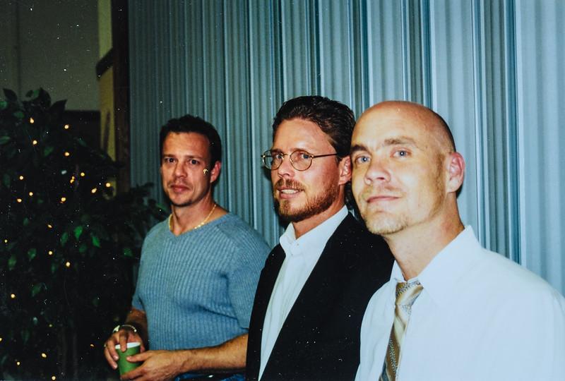 Dave, Matt, Jeff at Kristen's wedding October 2001