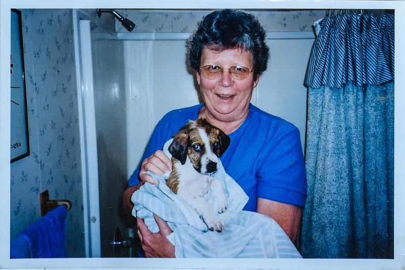 Mac and Mom Mac just took a bath!