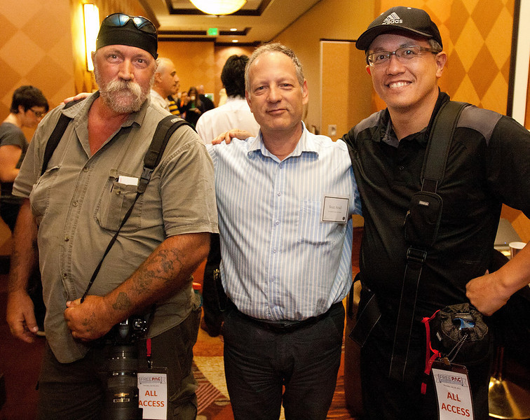 L to R :  Myself, Boaz Arad, founder of Israeli Freedom Movement and Pierre, member of photography team at an event in Dallas, Texas 2012