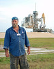 At launch pad 39A with Space Shuttle Atlantis, the last shuttle to fly, in the background. June 1, 2011