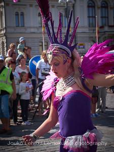 Samba-carneval in Tampere. Kukkaisviikot 2012