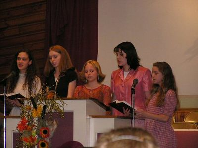 Teen girls - Teen night - Singing October 31,2004