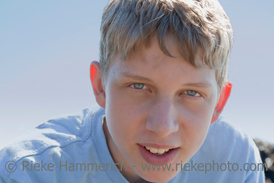 Teenage Boy Portrait - In front of blue Sky in Vancouver, Canada