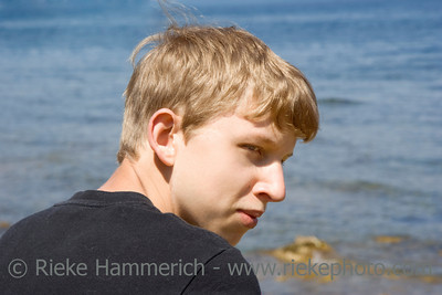 teen portrait - in front of the ocean - adobe RGB