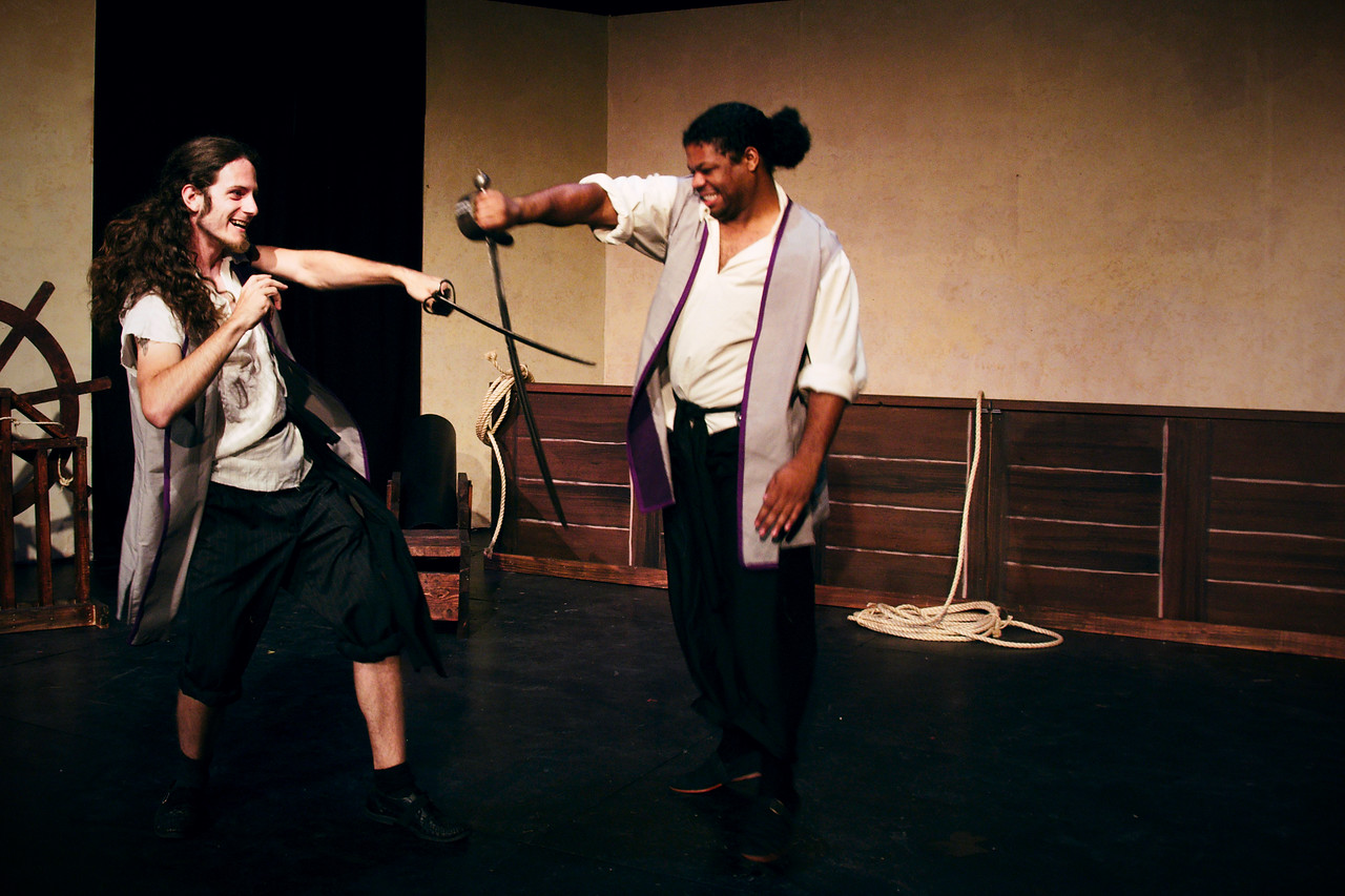 Petruchio's lads at play.<br /> <br /> Brian Gashgarian, Khary Alexander.