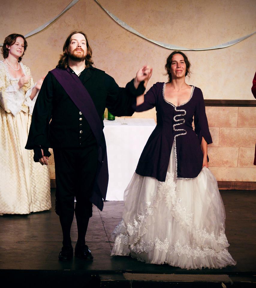 Bianca: Brigid Matheson, Petruchio: Nicholas Oddson, Kate: Polly Edwards.