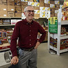 Ray Bowden of Tewksbury, at the Tewksbury Community Pantry food pantry where he volunteers. (SUN/Julia Malakie)
