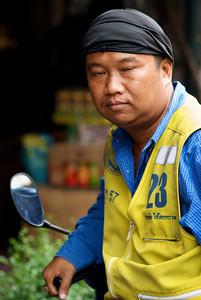 Bangkok mototaxi driver