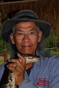Animal curator at Ancient Siam on the outskirts of Bangkok.