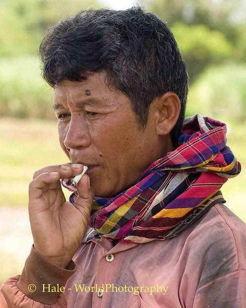 Taking a Break, Tahsang Village in Isaan Region of Thailand