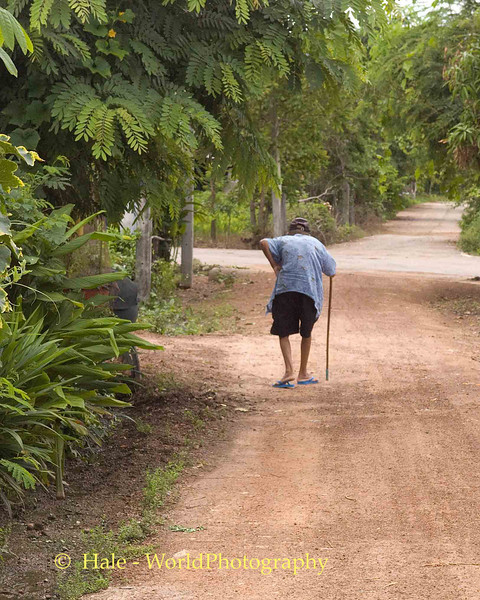The Long and Straight Road, Tahsang Village, Isaan Region of Thailand