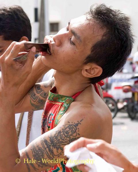 Mar Song Pierced by Knives, Phuket Vegetarian Festival, Thailand