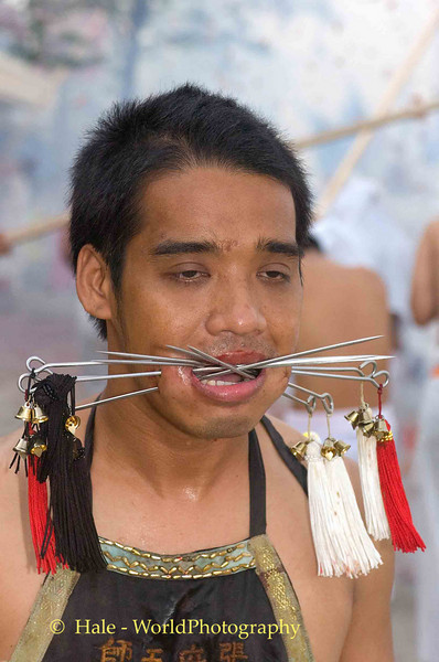 Mar Song Pierced by Six Skewers, Phuket Vegetarian Festival, Thailand