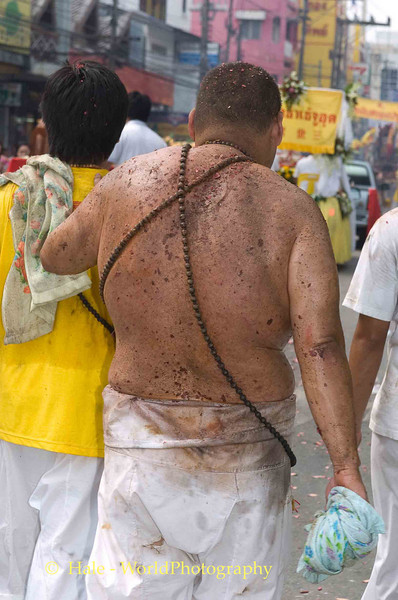 Battered But Still Standing, Phuket Vegetarian Festival, Thailand