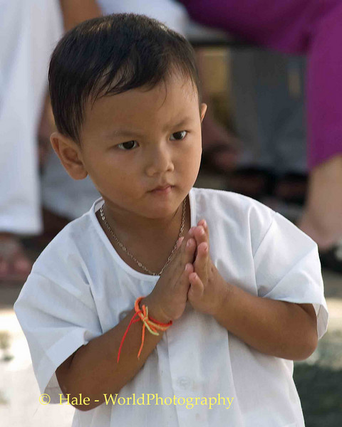 Little Boy Watching Procession, Phuket Vegetarian Festival, Thailand