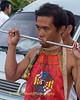 Mar Song Pierced by Metal Rod, Phuket Vegetarian Festival, Thailand