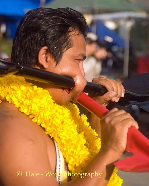 Mar Song Pierced by Two Shovels, Phuket Vegetarian Festival, Thailand