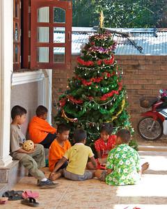Christmas fair Sangklaburi, Thailand