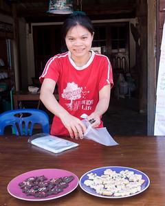 Christmas cookies! Sangklaburi, Thailand