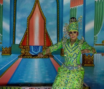 Performer at a Wat festival. Sam Roi Yot Beach, Thailand