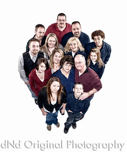 The Entire Family, using a 'Bleach By-Pass' Process