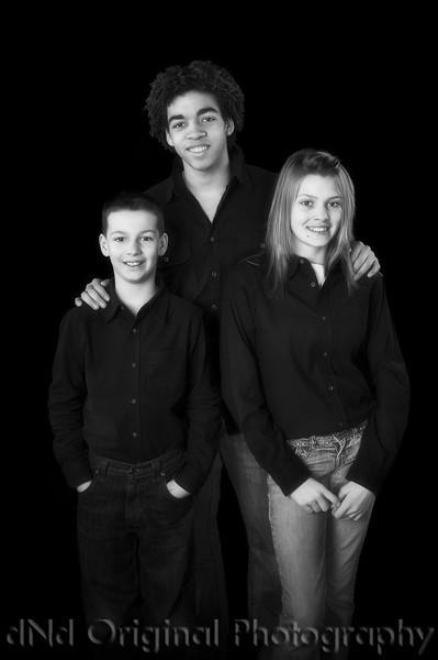 Michael, Justyn, Amanda<br /> B&W