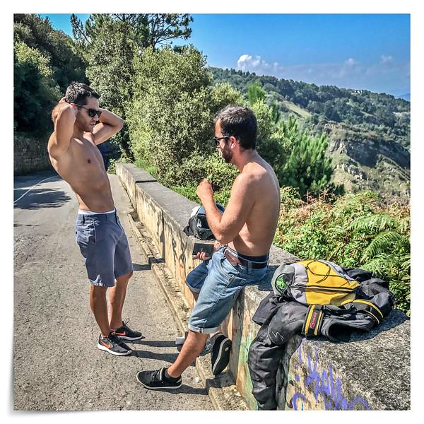 Shirtless in San Sebastian