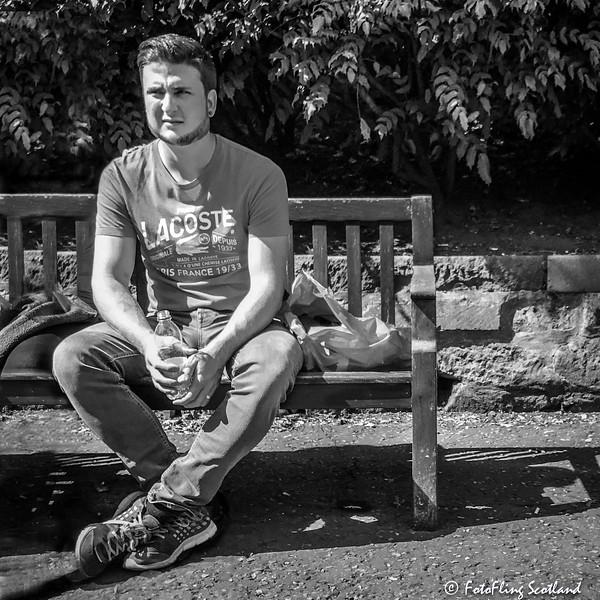Man on a Park Bench