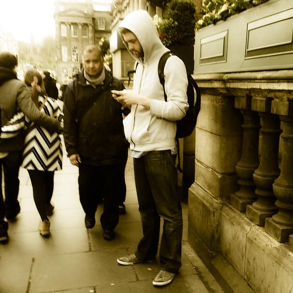 Hooded in Princes Street