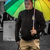 A Rainbow Umbrella Brightens Up The Day