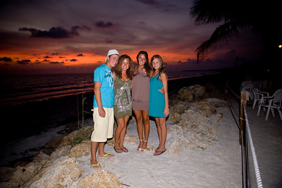 The Donahue family on their annual visit to Anna Maria Island.