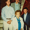 """Taken May 18, 1991 at Russell House. Paul, Don, Miki and """"Pee Wee"""" Lamson"""