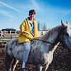 Me riding a horse in Idaho. 1994