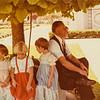 Kris Jarvie, Anderson girl, Sara Jarvie, Sherm Anderson, Aug. 31, 1978. Verl and Teresa's wedding
