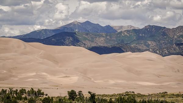 Gorgeous backdrop of the Sangre de Cristo mountains
