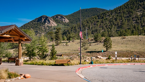 At the rest stop at Wilkerson Pass - Flag at half-staff in honor of Sen. John McCain's passing