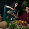 A year later Sir Gawain returns to Lord Bertilak's castle and enjoys a feast with Lady Bertilak