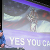 """Dick Hoyt visited North Middlesex Regional High School to deliver his message of Together """"You can Do anything"""" on Friday afernoon. SENTINEL & ENTERPRISE/JOHN LOVE"""