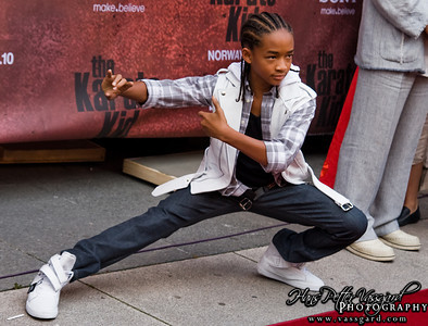 Jaden strikes a pose.
