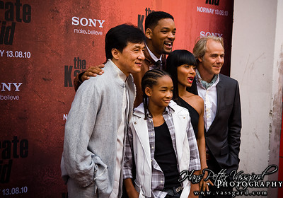 Jackie Chan, Will Smith, Jaden Smith, Jada Pinkett Smith and Harald Zwart.