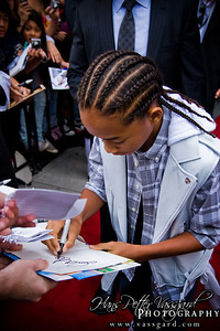 Jaden Smith signing autographs to hysterical fans.