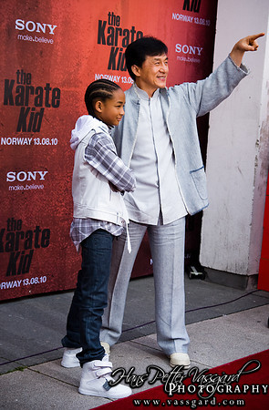 Jaden Smith and Jackie Chan.