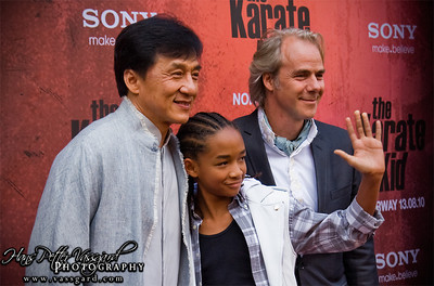 Jackie Chan, Jaden Smith and Harald Zwart.