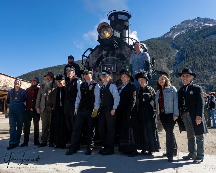Historic Narrators and crew on last day of Silverton season